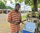 Eat a Fresh Coconut from a Fruit Vendor