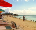 The pristine beach at Castaway Cay