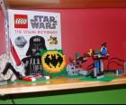 Shelf with Lego models built at Bricks 4 Kidz