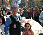 At the Easter Parade, some bonnets are whimsical...