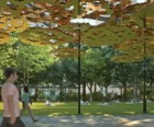Digital rendering of Teresita Fernández's Fata Morgana to be installed in Madison Square<br/>Park; image courtesy of Lehmann Maupin and Anthony Meier Fine Arts
