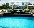 A pool at the Condado Plaza