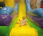 The inflatable slide is always a hit
