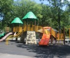 Looking for structured fun? There are three separate playgrounds and lots of sports fields...