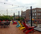 There's a fabulous roof deck where you can chill out with your ice cream