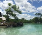 The pool is stunning and also feels part of the natural enviornment