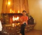 Breakfast by the fire