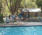 Heated pool. And they call this camping.