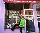 Laurie's daughter gets her trims at Cozy Cuts for Kids.