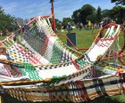 Kids can climb all over this woven Magic Carpet