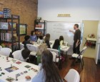 At Brooklyn Game Lab, kids can learn and play a variety of board games...