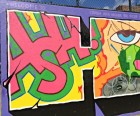 Founded in 1980, the Graffiti Hall of Fame is located in the schoolyard of<br/> the Jackie Robinson Educational Complex