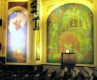The Scenes from Children's Literature murals in the theater are gorgeous