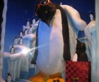 Animated penguin tote at at Bloomingdale's