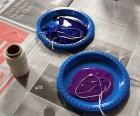 Soak string in paint