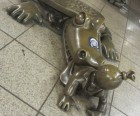 Tom Otterness' Life Underground features a very hungry alligator