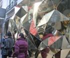 Go inside Barneys' mini sidewalk theater for a trippy take on Manhattan...