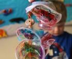 String together to make mobile or hanging sculpture