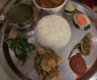 Farsee goat thali is a kid-friendly dish