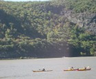 Kayaking on the Hudson River in Cold Sprinng