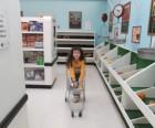 Shopping in a kosher market