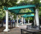 There's lots of shade in Joseph C. Sauer Park