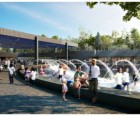 Artist rendering of the rink transformed for summertime water play