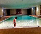 The pool needed to be eased in to