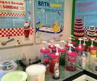Some treatments come with beauty creams or scrubs kids can custom make<br/>in store