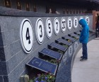 Monument Park sits beyond centerfield and houses plaques commerating all the<br /> Yankees' retired numbers