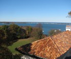 The view of Northport Harbor from Vanderbilt Mansion's bell tower