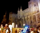 The Pope's Palace isn't much fun for kids, but looks like Disney World at night.