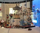 The Rotunda is filled with antique toys like...