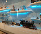 Lots of toy trains are on display in the galleries