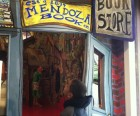 Checking out Red Grooms Bookstore