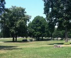 Lots of trees, shade and open lawns