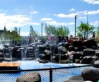 The Waterlab area at Pier 6 is a great place to cool off in summer