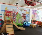 PLAY's new owners retained the original mural, painted by a local artist; photo<br /> by PLAY
