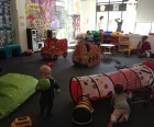 PLAY has lots of open space for kids to run around...
