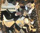 An upside-down band at Bergdorf Goodman