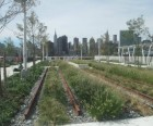 The rail gardens are reminiscent of Manhattan's High Line