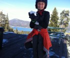 Enjoying snow at the summit of Snow Summit