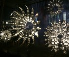 Mesmerizing, swirling snowflakes at Barneys