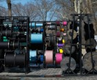 Spools of thread represent Central Park's myriad pathways in Tatiana Trouvé's<br/> Desire Lines; photo courtesy of the artist