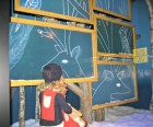 Virtual blackboards at Saks Fifth Avenue