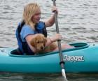 Kayaking on a tidal inlet