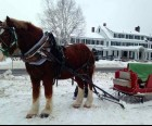 Sleigh ride at the Franconia Inn