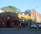 Woodside Avenue, the neighborhood's commercial hub