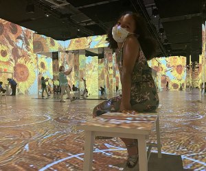 Little Girl at The Immersive Van Gogh Experience