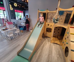 Wheee! Slide, play, and eat at My Little Paris.